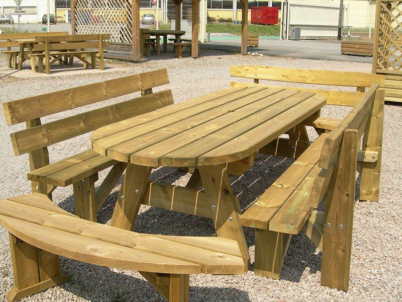 Mobilier extérieur en bois pour jardin et terrasse | Chalets Glé